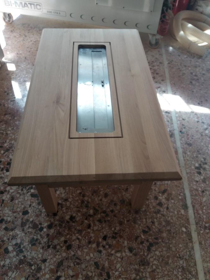 Τραπέζι – σόμπα από ατόφιο Αμερικάνικο Δρύς ειδική κατασκευή για ξενοδοχείο στην Μύκονο.